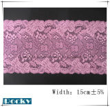 Hot Sell Flower Lace Trim for DIY Decorations Width 15cm