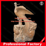 Phoenix Animal Statue Marble Sculpture for Garden Decoration