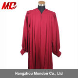 High-Quality Matte Maroon Fluted Choir Robes with Cuff Sleeve