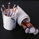 10PCS Marble Cosmetic Brush Set with Cylinder Case