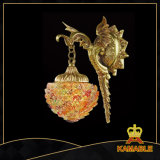 Decoration Hotel Brass with Glass Wall Lamp (MB0808-1)