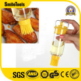 Silicone Kitchen Tools Basting Bottle Cooking Silicone Oil Brush with Calibration