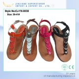 Cool Summer Open Toe Casual PVC Lady Sandals with PU Upper