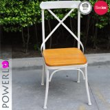 Handmade Dining Chair Metal with Wooden Seat