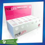 Acrylic Nail Polish Counter Display with Customized Slots China Acrylic Makeup Organizer Manufacturer