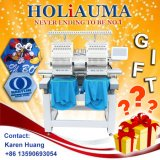 Holiauma Brand New Hot Selling 2 Heads 15 Needles Cap/Garment/Shoes Computerized Embroidery Machine Happy Type with Free Embroidery Designs