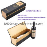 Customized Hard Cardboard Single Wine Packaging Box with Blister Tray