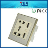 5V 2.1A Dual USB Wall Socket with 16AMP Socket Universal