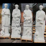 Hand-Carved White Marble Stone Sculpture for Home Decoration Ms-1016