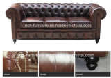 Popular Replica Vintage Leather Sofa for Living Room (3 Seater)
