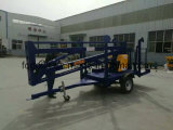 Hydraulic Articulated Mounted Boom Trailer Aerial Working Lift 10m