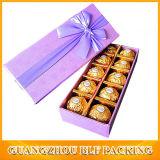 Purple Ribbon Bow Cardboard Elegant Gift Box