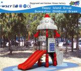Rocket Feature Mini Outdoor Playground Equipment Hf-14301