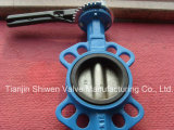 Ductile Iron Wafer Butterfly Valve EPDM Lined