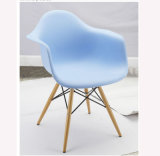Baroque Plastic Chair with Wood Legs