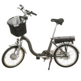 Powerful 350W Foldable Electric Bicycle with Basket