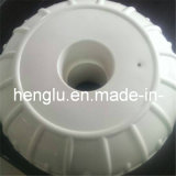 12 Inch White PVC Dock Edge Wheel Mount with Cap