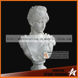 White Marble Female Bust Ms-090