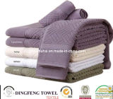 100% Cotton Velour Color Jacuqard Sport Towel