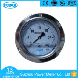 100 mm Panel Mounted Stainless Steel Oil Filled Pressure Gauge
