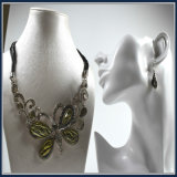 New Item Resin Acrylic Butterfly Pendant Fashion Jewelry Necklace Earring