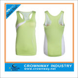 Lightweight Lady′s Dry Fit Clothing Polyester/Spandex Sports Tops