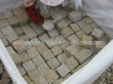 G682 Sunset Yellow Rusty Granite Cube Paving Stone