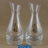 200ml Hand Blown Decanter (Gold Stamping Logo)