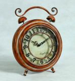 Antique Style Small Metal Table Clock