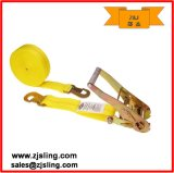"""Ratchet Strap W/ Flat Snap Hook 2"""" X 27′ Yellow"""