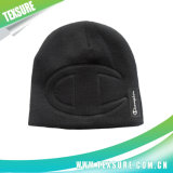 Black Simple Promotional Knitted/Knit Beanie Hat/Cap (008)