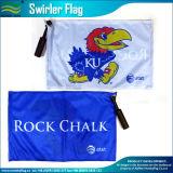 Printed Polyester Fans Sponsors Swirler Handle Bar Flag