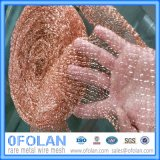 Knitted Gas Liquid Filter Copper Wire Mesh for Distillation
