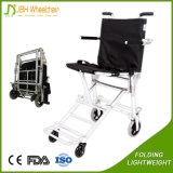 5 Inch Wheels Aluminium Air Flight Lightweight Folding Wheelchair