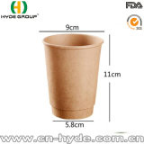 Wholesale Kraft Double Wall Disposable Hot Paper Coffee Cup