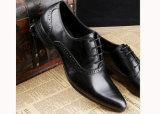 Black Leather Men Dress Business Shoes