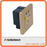 Square 86X86mm 10A Circuit Breaker Outlet for Electric