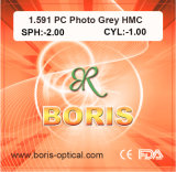 1.591 Polycarbonate Lens PC Photochromic Grey Hmc Optical Lenses