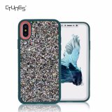 Luxury Bling Glitter Sparkle Anti-Shock Soft Gel Flexible TPU Bumper Back Cell Phone Cover Case for iPhone X