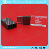 Embossed DOT Metal Cap Crystal USB Flash Drive (ZYF1528)
