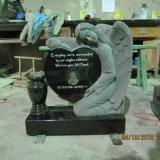 Single Angel Heart Granite Child Headstone