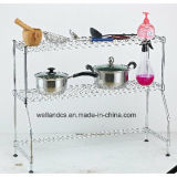 New Style DIY 2 Tiers Metal Kitchen Wire Shelving Rack