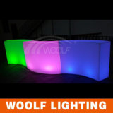 16 Color Rechargeable Round LED Glowing Bar Counter