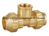 Forging Brass Compression Female Tee (IC-7015)