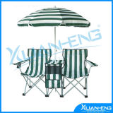 Double Cooler Beach Chair with Umbrella