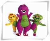 Barney Mascot Barney with Friends Cartoon Character