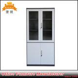Quality Swing Glass Doors Knock Down Metal Cupboard