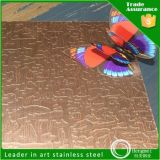 Wholesales 304 Embossed Stainlesss Steel Sheet Color Sheet for Decoration