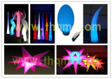 Inflatable Wedding/Party Decoration, Air Tube, LED Balloon, Air Cone, Light Star