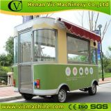 Electric mobile food cart fast food kiosk with four wheels machine